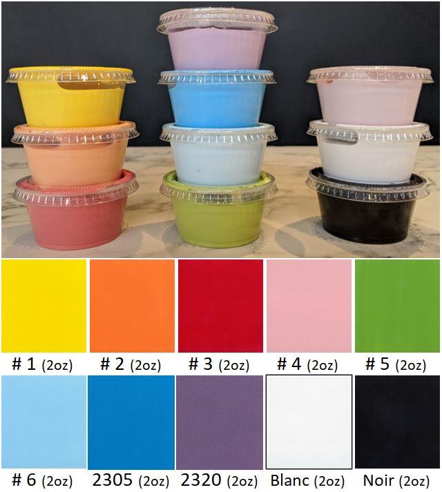 PEINTURES : 10 pots 2oz. couleurs arc-en-ciel plus ...